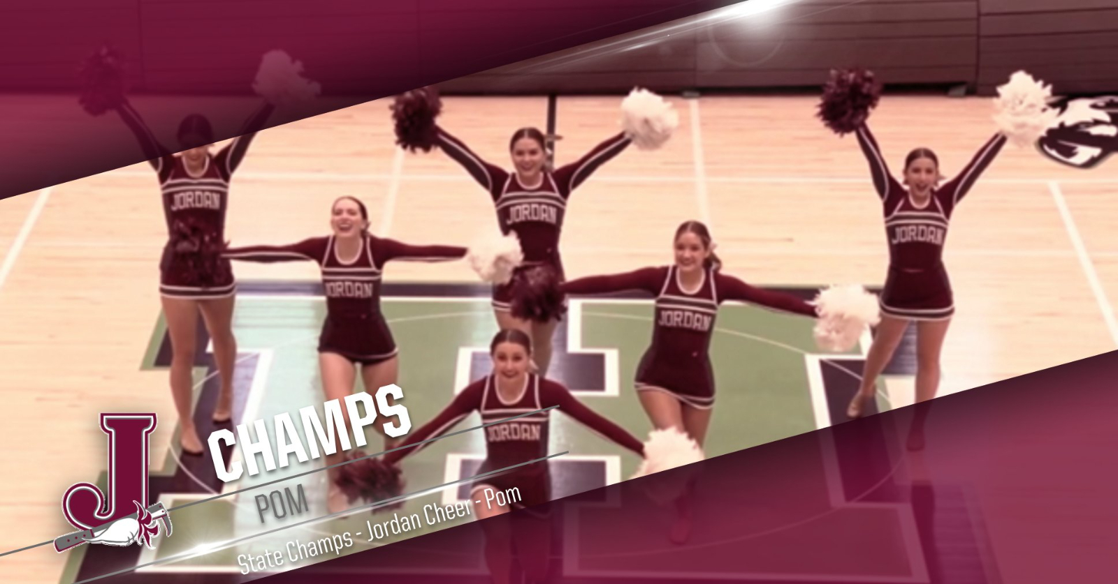Cheer: Jordan Wins State with Pom Routine