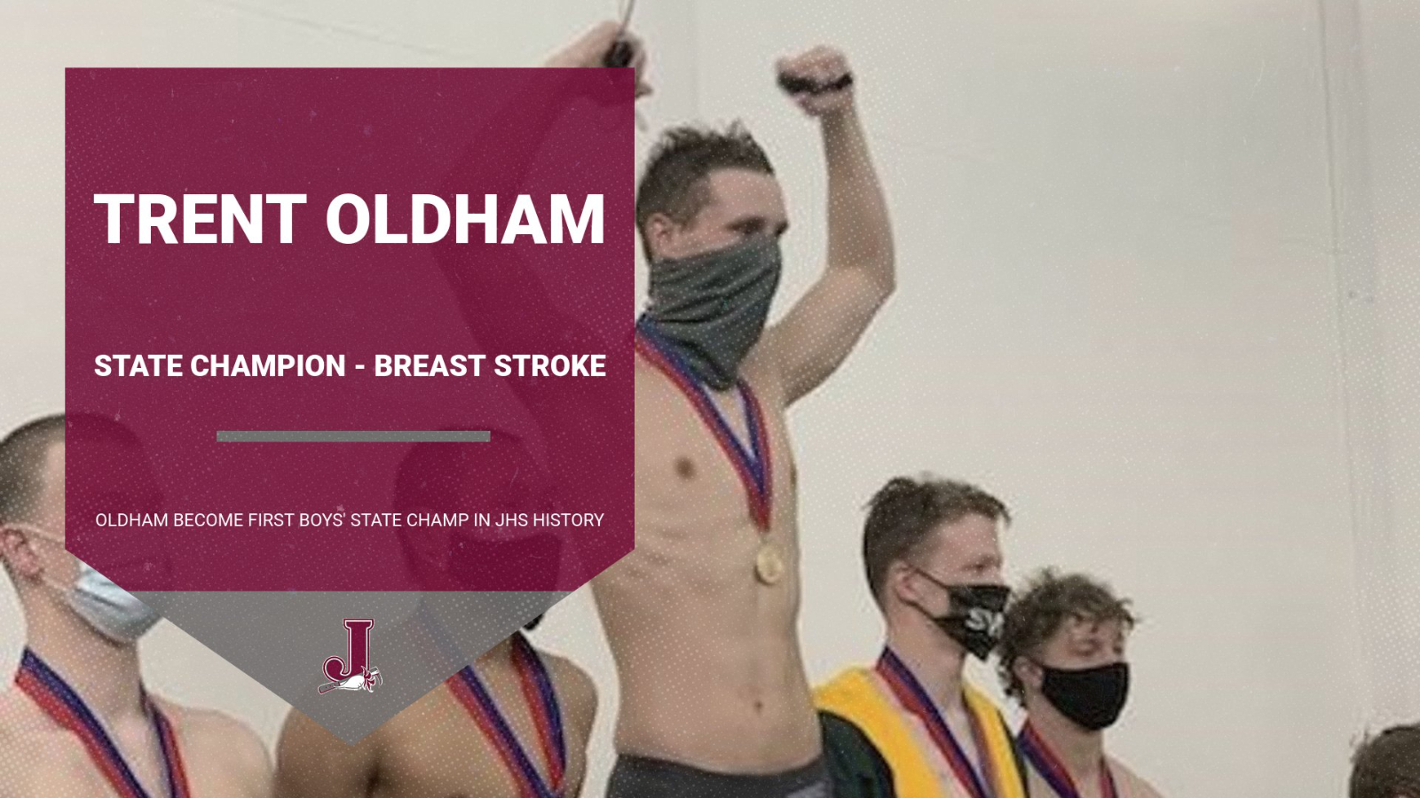 Boys Swimming: Trent Oldham – Breast Stroke State Champ!