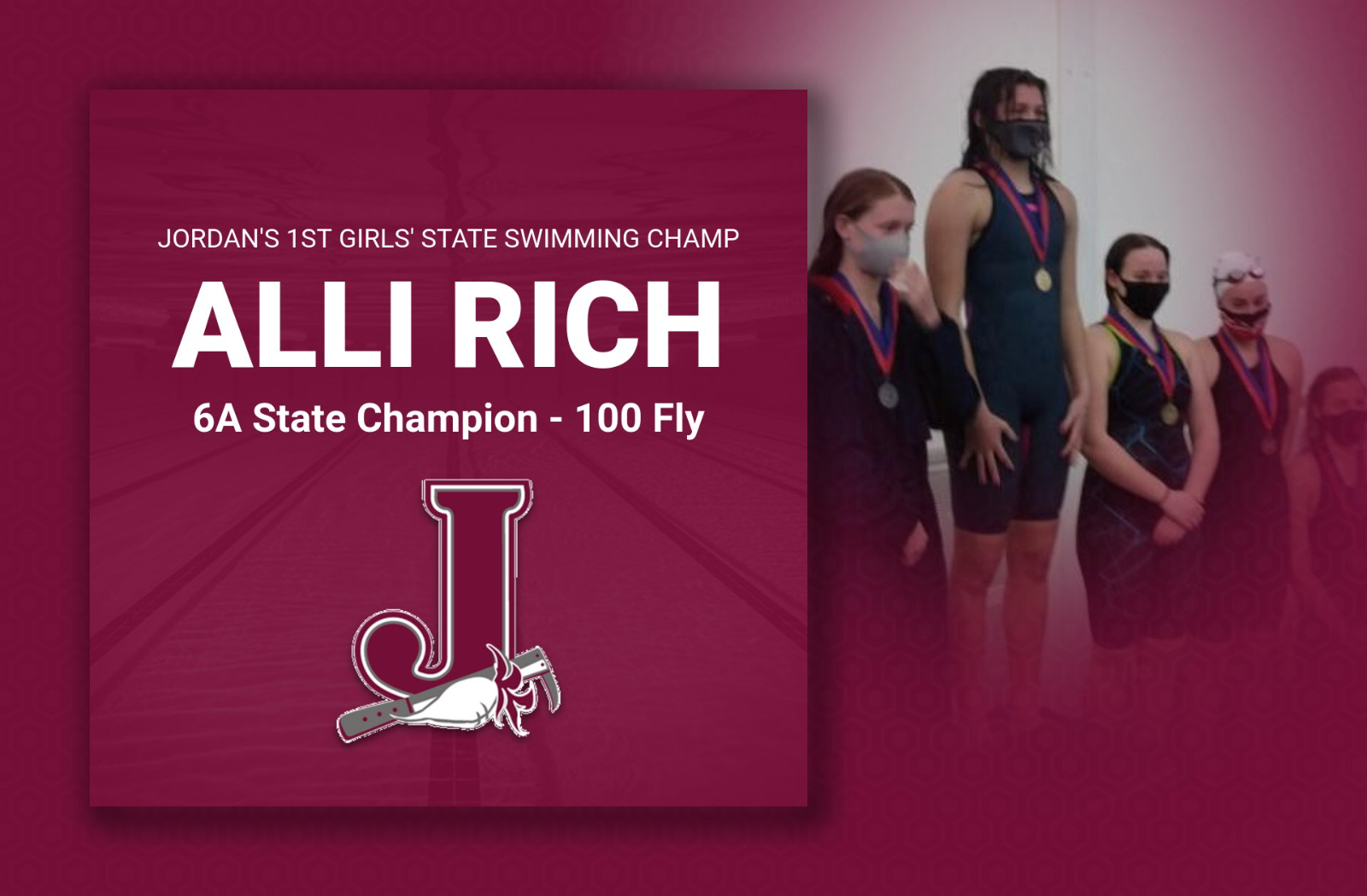Girls Swimming: Alli Rich Takes 6A State Championship in 100 Fly
