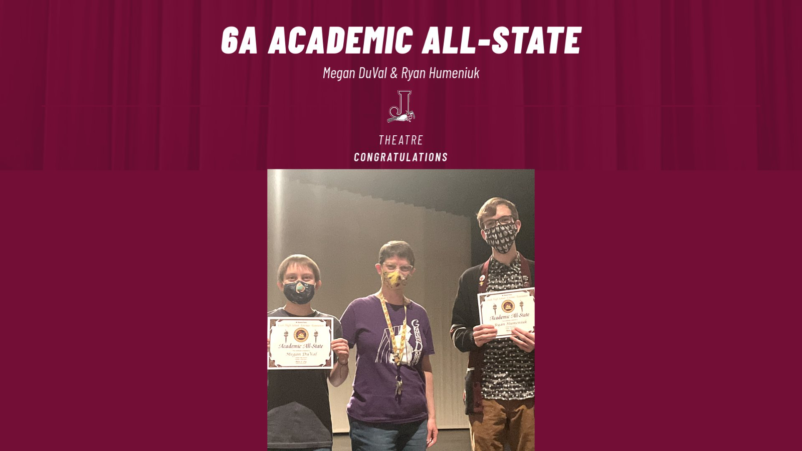 Megan DuVal & Ryan Humeniuk (Theatre) Named Academic All-State