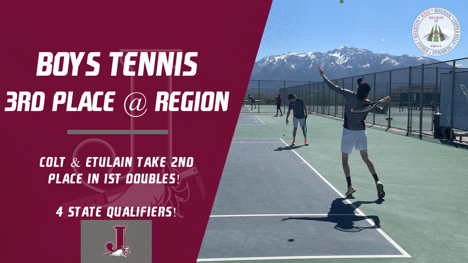 Boys Tennis Finishes 3rd at Region as 4 Beetdiggers Qualify for State