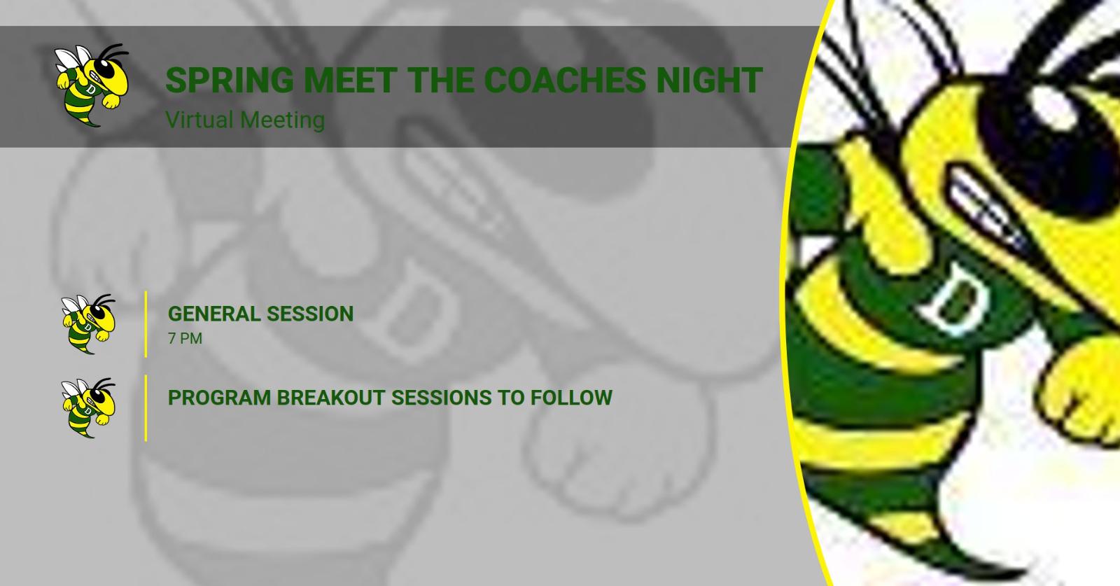 4/21 Spring Meet the Coaches Night – Virtual