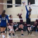 Cougars Advance in D6 Volleyball Playoffs
