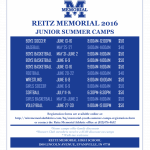 2016 Memorial Youth Summer Sports Camps