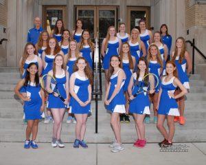 2016 Girls Tennis Team Photo