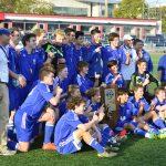 Memorial High School Boys Varsity Soccer beat Ihsaa State Finals 2-1