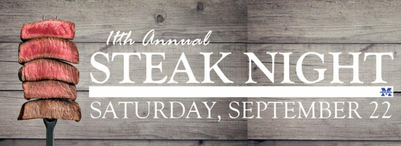 Memorial Athletic Booster Club's Steak Night – Saturday, September 22nd