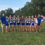Girls Varsity Cross Country finishes 1st place at IHSAA Sectional