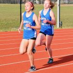 Girls Varsity Track finishes 1st place at Evansville FJ Reitz