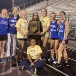 Girls Varsity Track finishes 1st place again at IHSAA Sectional