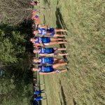 Girls Varsity Cross Country races at Brown County in the Elite Race.