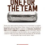 Dance Team Fundraiser at Chipotle on September 14th