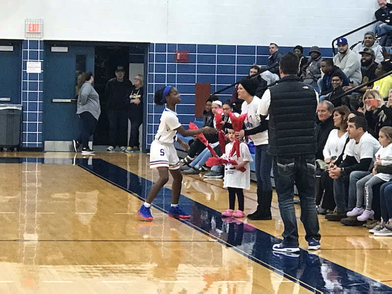 Girls Basketball Defeats Maumee 50-35 and Celebrates Stephanie Doyle