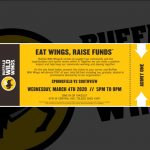 Eat Wings on March 4th to Raise Funds