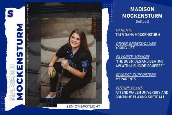 Senior Athlete Spotlight: Madison Mockensturm