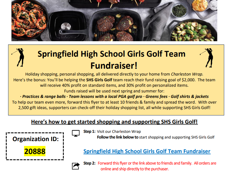 Girls Golf Fundraiser: Start Your Holiday or Personal Shopping!