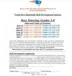 Youth Boys Basketball Skill Development Sessions