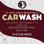 Girls Basketball Car Wash