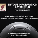 Boys Soccer Tryouts: Parent Meeting This Thursday