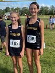 Ryleigh Gunter and Leah Boutwell place in the top 11 at the JP 2 Middle School Invite