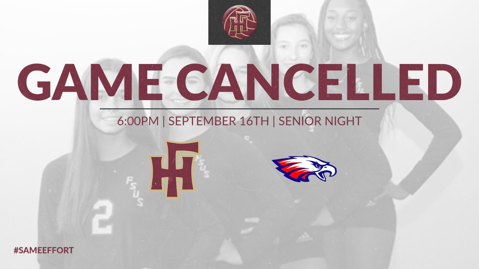 Volleyball Game Cancelled