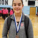 Girls Varsity Gymnastics finishes 3rd place at Hilliard Bradley High School