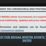 Important update from the MHSAA
