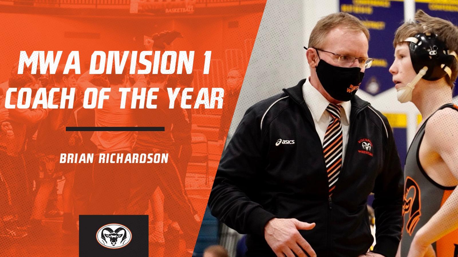 Coach Richardson wins MWA D1 Coach of the Year