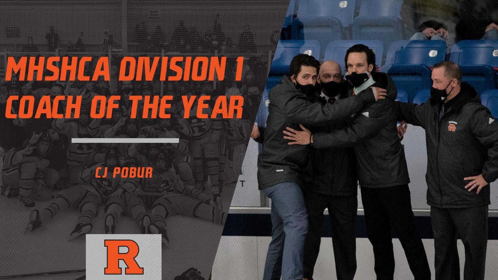 Coach Pobur awarded MHSHCA D1 Coach of the Year