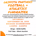 Reminder! Come on out for our Football and Athletic Fundraiser this Saturday @ Bridges Scoreboards from 4 to 8 pm. Bingo!50/50! Pull-tabs! Silent Auction! We have hundreds of dollars worth of Prizes Donated !