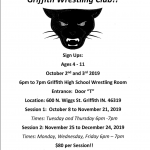 Wrestling Club Flyer  and Calendar!