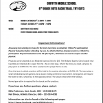 6th Grade Boys' Basketball Try-Outs  Oct. 28th and 29th 6-730pm