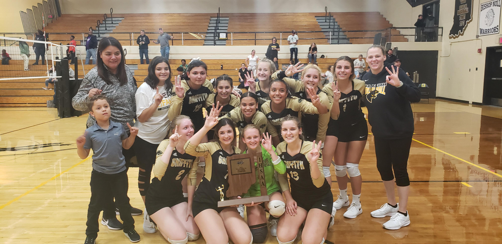 It's a 3-Peat!!!! Griffith Wins!!!! Congratulations Lady Panthers on the sweep to win the Sectional!!!!!! GRIFFITH ADVANCES TO THE REGIONAL NEXT WEEK!!!