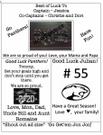 "Tell your Favorite Athlete  ""GOOD LUCK"" ! With our Athletic Program ADs! Click the Link for more Info!"