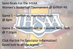 Semi-finals for IHSAA Women's Sectional Basketball Tournament @ Griffith! Click the link for more Information!