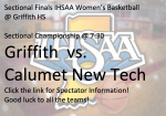 🏀 🐾 Sectional Finals! 7:30 Tip off! Griffith vs. Calumet 🏀🐾