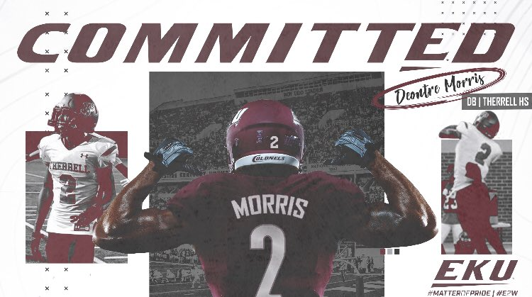 Congratulations to Deontre Morris on his commitment to Eastern Kentucky University!