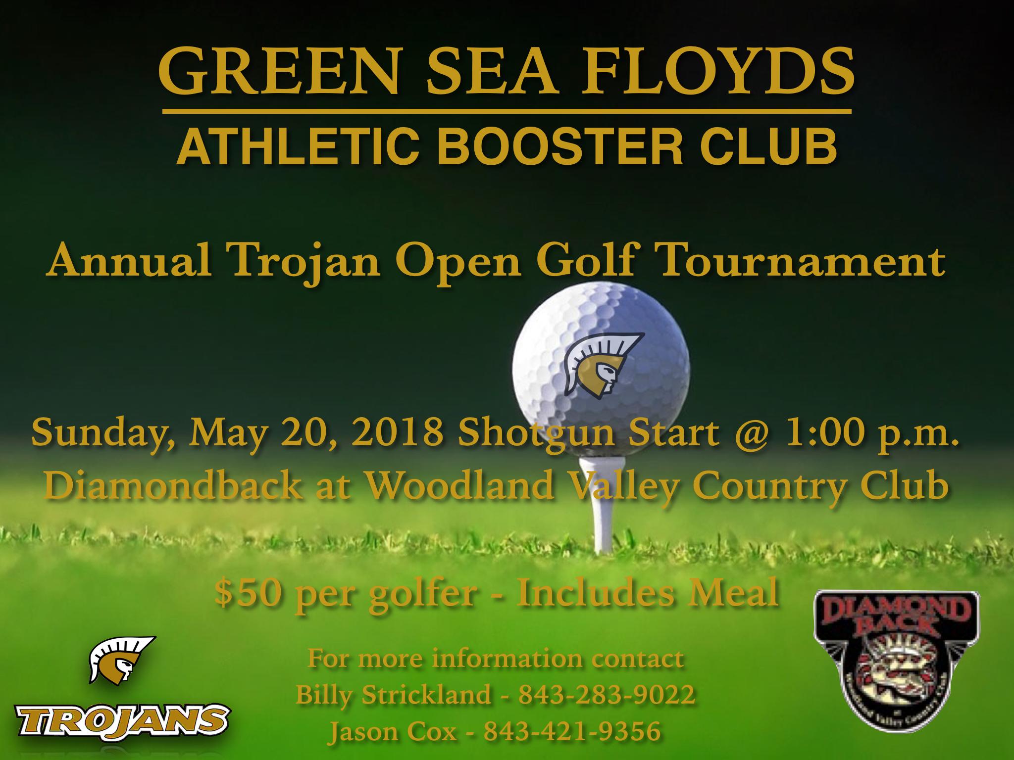"Athletic Booster Club ""Trojan Open"" Golf Tournament"