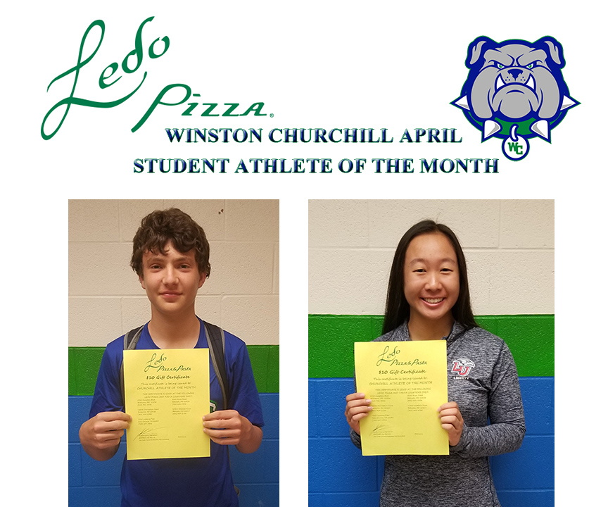 Ledo Pizza's April Student Athlete's of the Month!