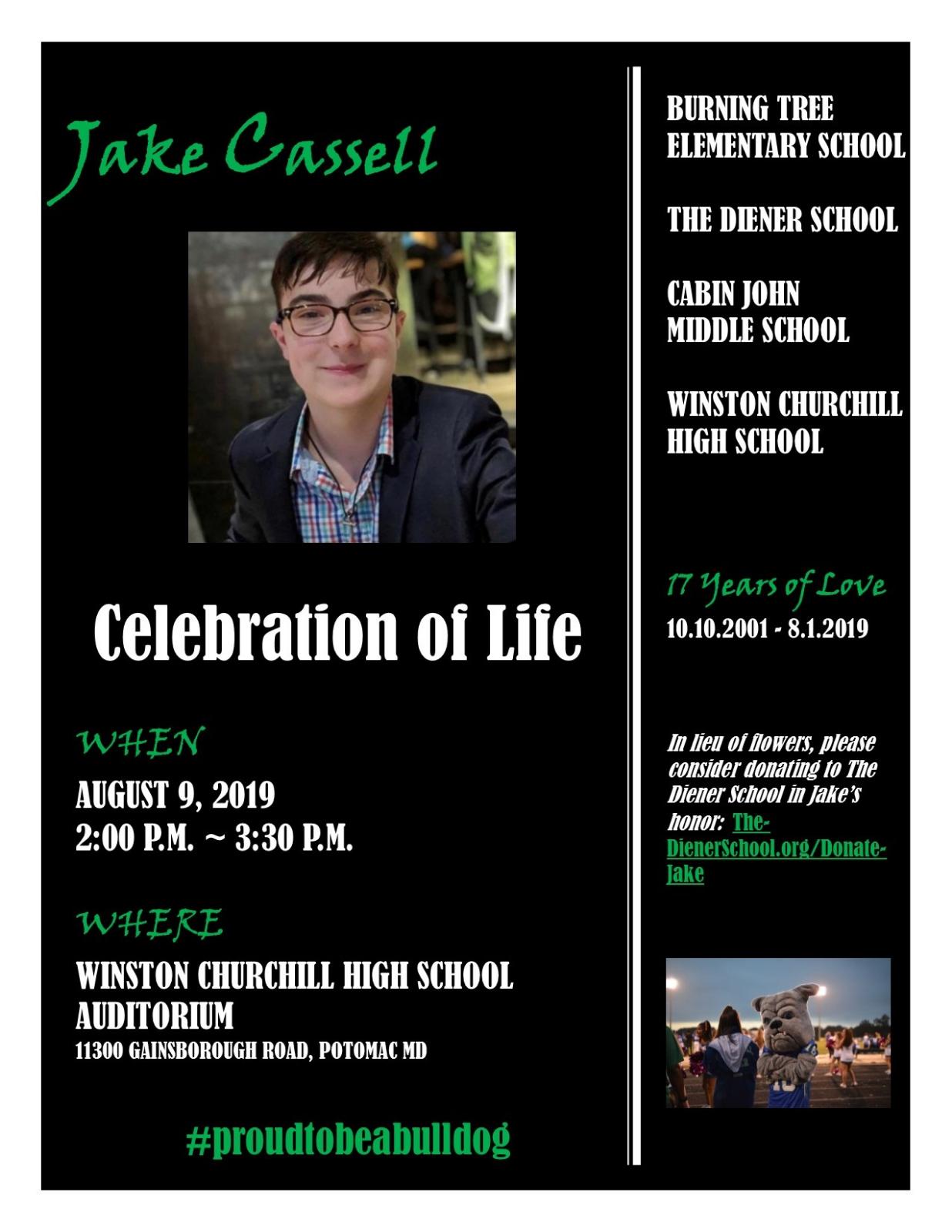 Celebration of Jake Cassell