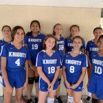 Girls Varsity A Volleyball falls to Espiritu Santo Catholic School 2 – 1