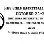 Girls Basketball Tryout Info