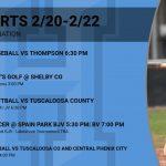 Sports This Week Thu 2/20 – Sat 2/22