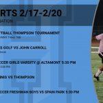 Sports this Week Mon 2/17 -Thu 2/20