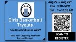 Girls Basketball Tryouts Announced