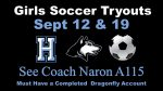 Girls Soccer Tryouts Sept 12- Follow Link for Registration Info