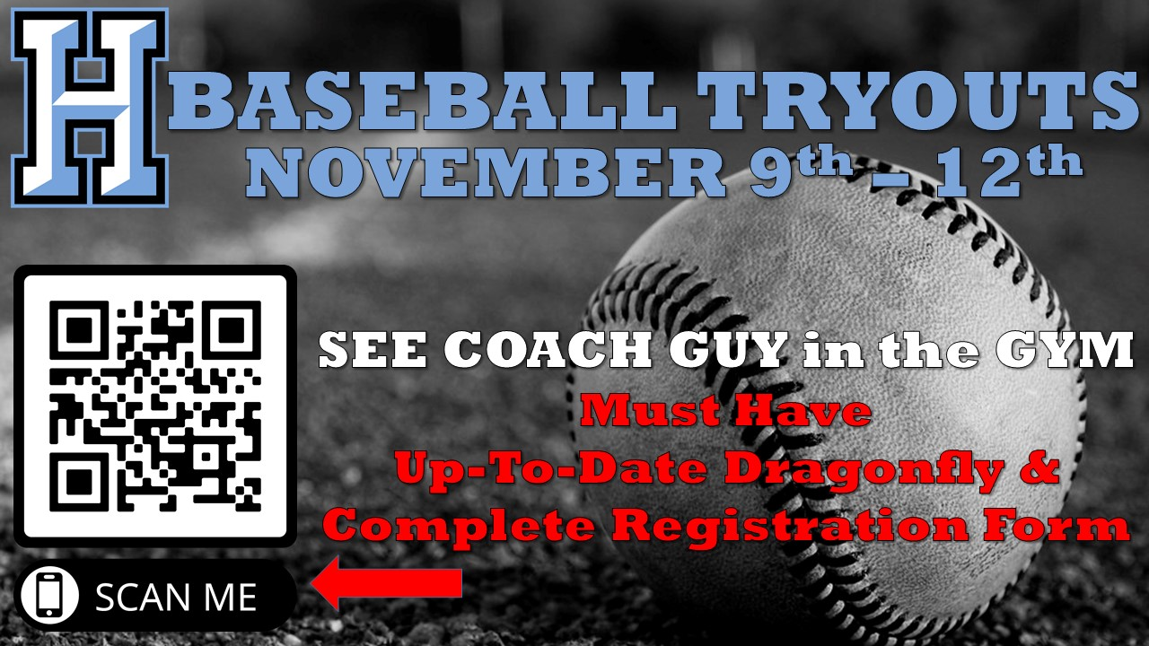 Baseball Announces Tryouts