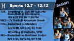 Sports Action This Week.  Wrestling Senior Night