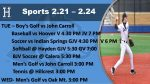 Spring Sports In Full Gear Now.  Get out and Support Your Huskies!