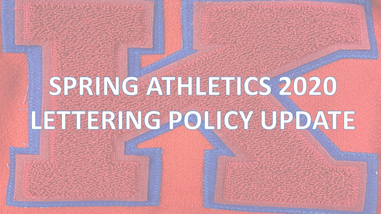 Spring Athletics (2019-2020 School Year) – Lettering Policy